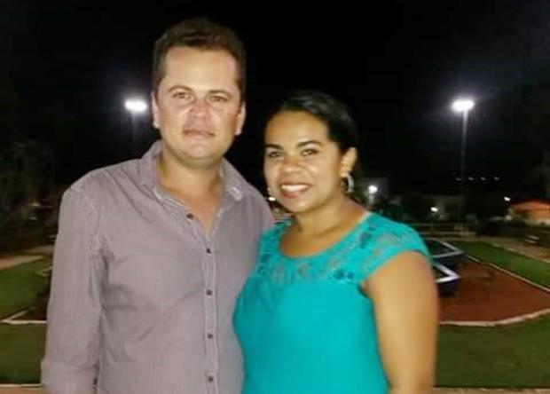 Vereador Adão da Silva de Araújo Júnior e a mulher dele, Maria Eliene da Silva, que foi morta a tiros  (Foto: Arquivo Pessoal)