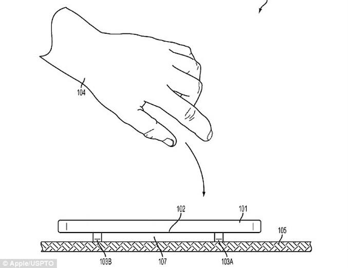 Patente da Apple revela sistema mecânico de proteção para tela do iPhone (Foto: Reprodução/PhoneArena)