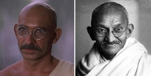 Ben Kingsley e Gandhi (Foto: Divulgação)