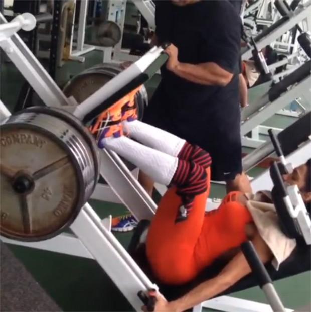 Gracyanne Barbosa posta vídeo na academia (Foto: Instagram / Reprodução)