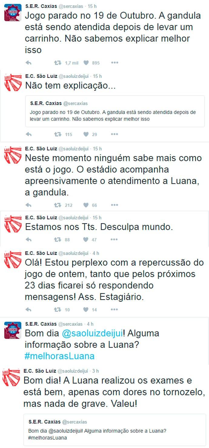 Mensagens São Luiz Caxias (Foto: Reprodução)