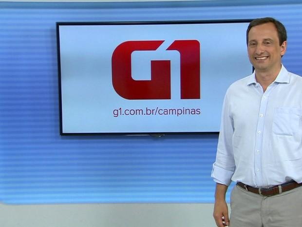 Candidato Artur Orsi durante entrevista ao G1, em Campinas (Foto: Reprodução / EPTV)