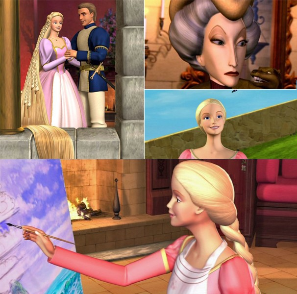 Rapunzel tenta fugir da torre para ficar com seu verdaderio amor (Foto: Divulgação/Reprodução)