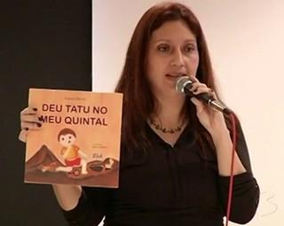 Autora Flávia Côrtes foi a convidada da vez (Foto: Reprodução)