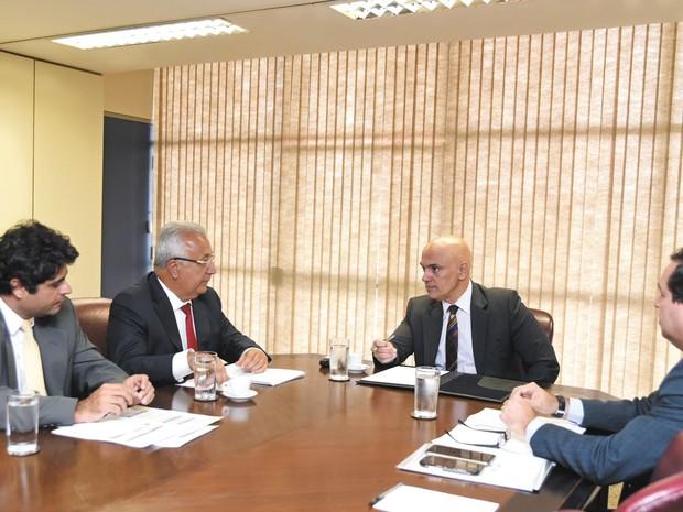Governador Jackson Barreto em encontro com o ministro da justiça Alexandre de Moraes (Foto: Humberto Pradeira/ASN)