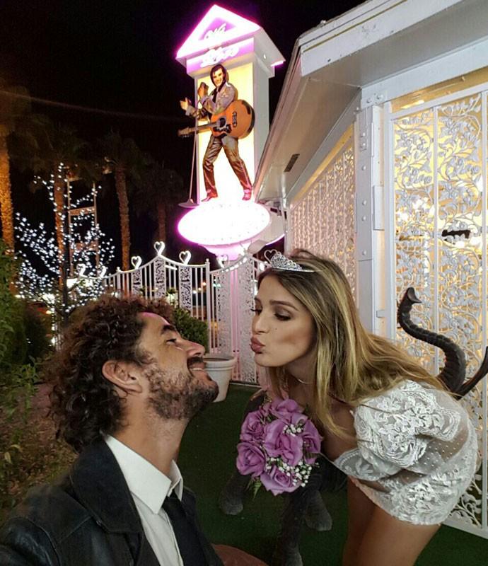 Casal renova votos de casamento em Las Vegas  (Foto: Arquivo pessoal )