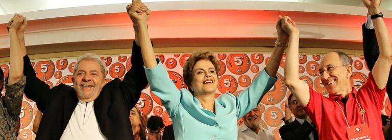 Lula, Dilma e Rui Falcão (Foto: Ricardo Stuckert )