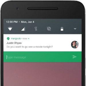 Android N permitirá responder mensagens no painel de notificações. (Foto: Divulgação/Google)