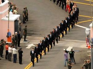 Recepção de cadetes na Escola Preparatória de Cadetes de Campinas (Foto: Divulgação/Exército)
