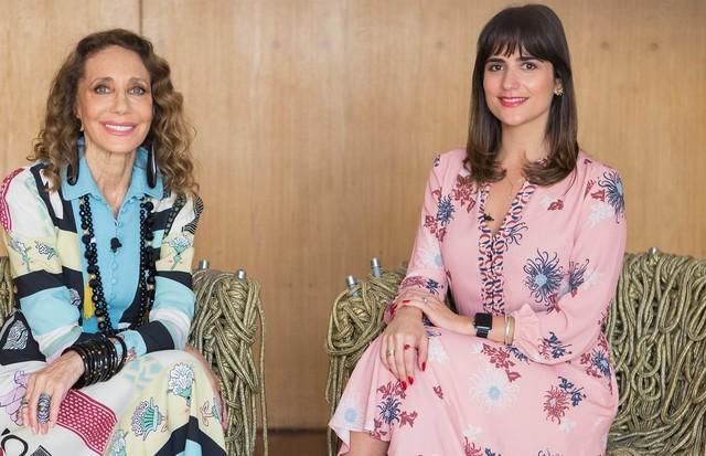 Luiza Souza e Marisa Berenson no Beauty Insider (Foto: Rafael Avancini )