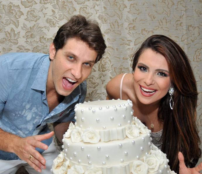 Kamilla e Elieser fazem segunda festa de noivado (Foto: Arquivo pessoal)
