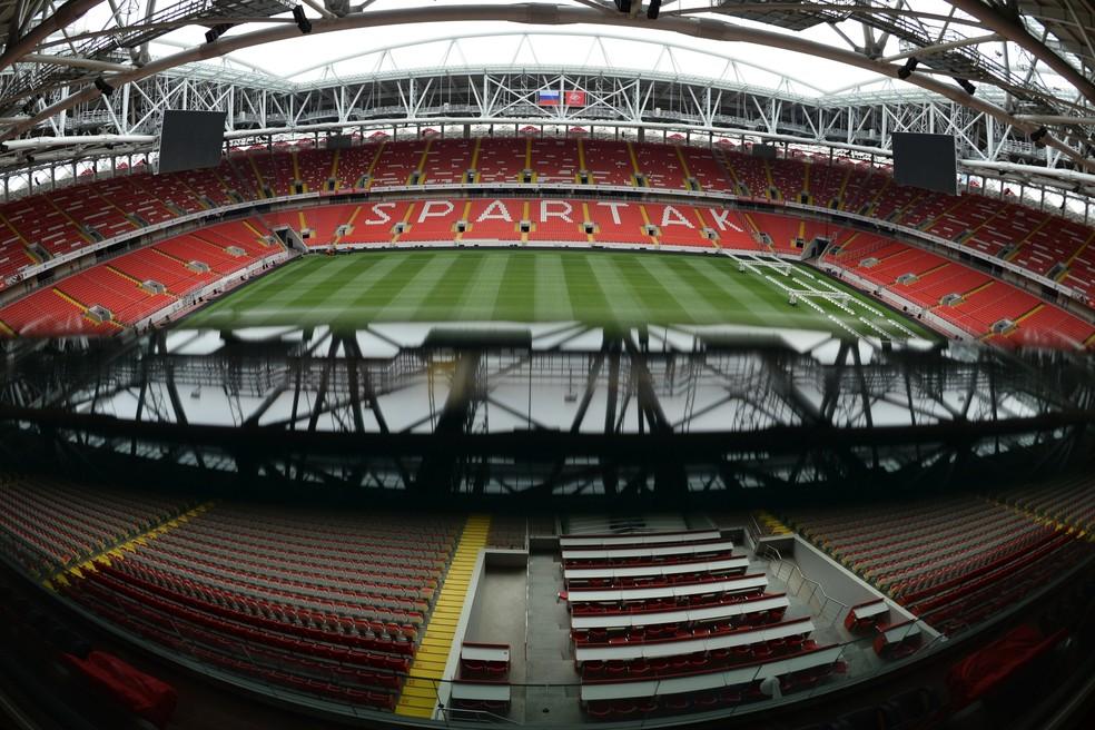 Estádio do Spartak será uma das quatro sedes da Copa das Confederações (Foto: AFP)