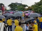 Manifestantes fazem ato contra a Reforma da Previdência no Maranhão