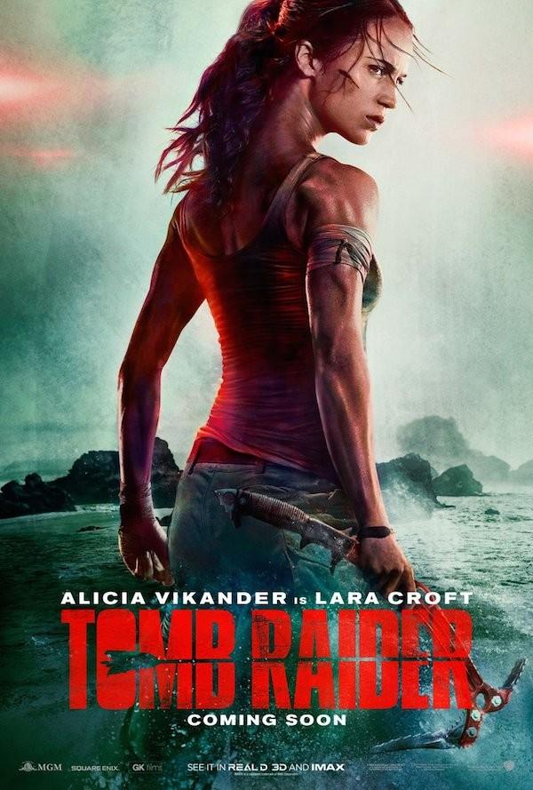 O polêmico pôster do reboot de Tomb Rider, estrelado por Alicia Vikander (Foto: Divulgação)