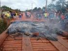 Manifestantes interditam BR-308 e pedem pavimentação da rodovia