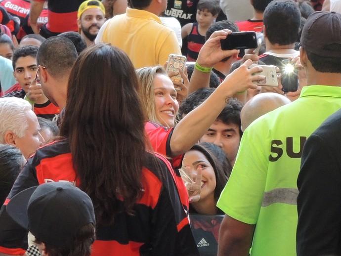 Ronda Rousey, maracanã, flamengo (Foto: gustavo rotstein)