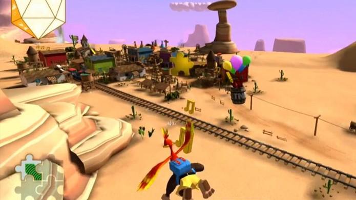 Minigame de Banjo-Kazooie durante premiação era controlado por movimento da plateia (Foto: Reprodução/Eurogamer)
