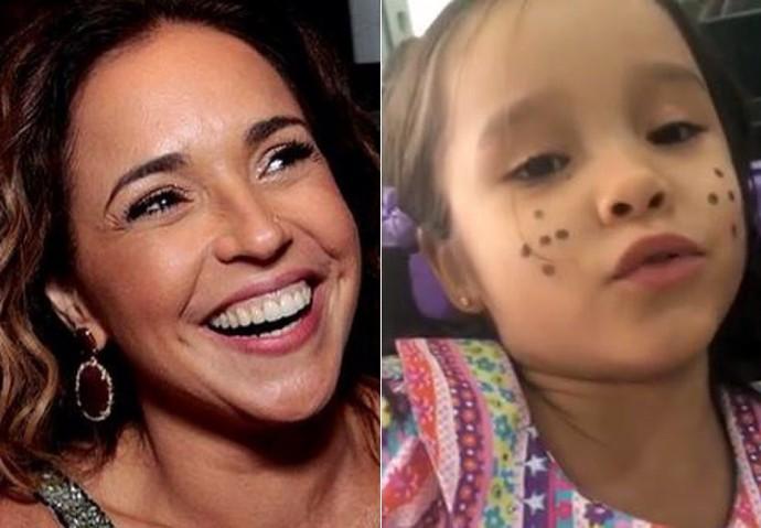 Daniela Mercury diz que sempre veste as filhas de caipira como Ana Isabel, na foto (Foto: Arquivo pessoal)