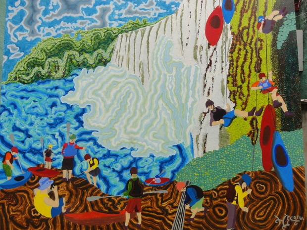 Exposição 'Nunca se pisa duas vezes no mesmo rio'. (Foto: Henrique Bertulani/Divulgação)