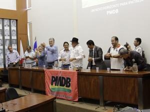 PMDB lança Sebastião Quintão como candidato a prefeito (Foto: Pedro Samora/ G1)