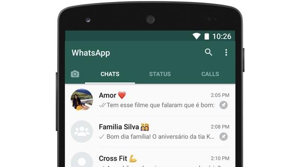 WhatsApp, fixação de conversas (Foto: Divulgação)