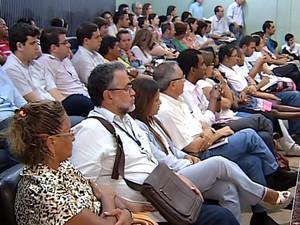 Audiência UFU EBSERH Uberlândia (Foto: Reprodução/TV Integração)