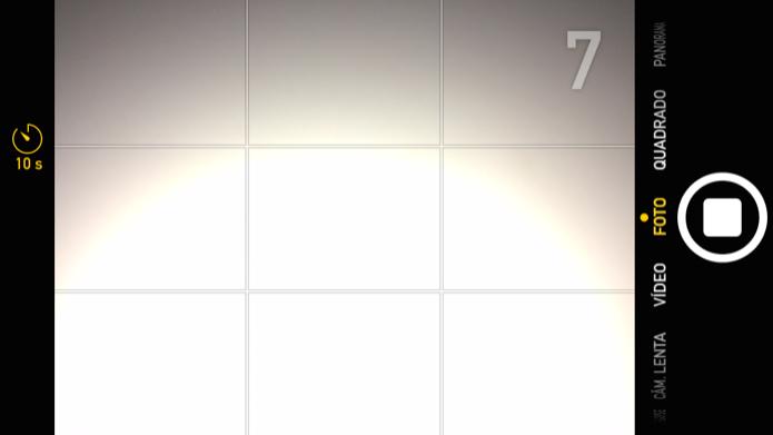 Aplicativo da câmera agora conta com função timer (Foto: Reprodução/Helito Bijora)