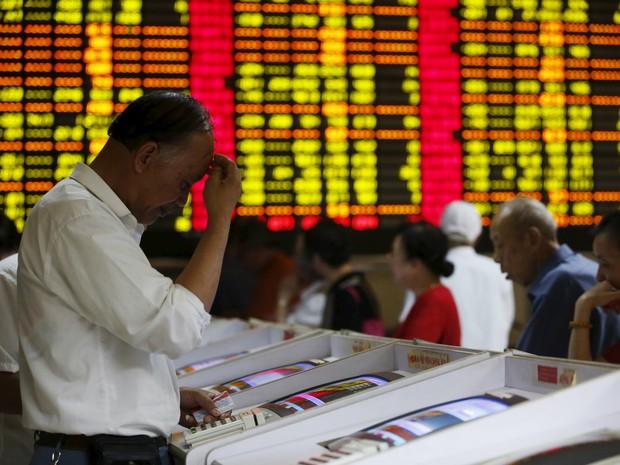 Bolsa de Xangai (Foto: Aly Song/Reuters)
