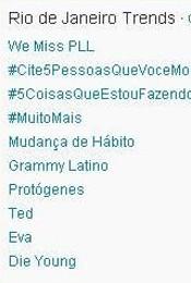 Trending Topics no Rio às 17h14 (Foto: Reprodução)