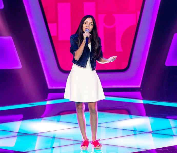 Mayara Cavalcante canta 'Por enquanto' no The Voice Kids (Foto: Isabella Pinheiro/Gshow)