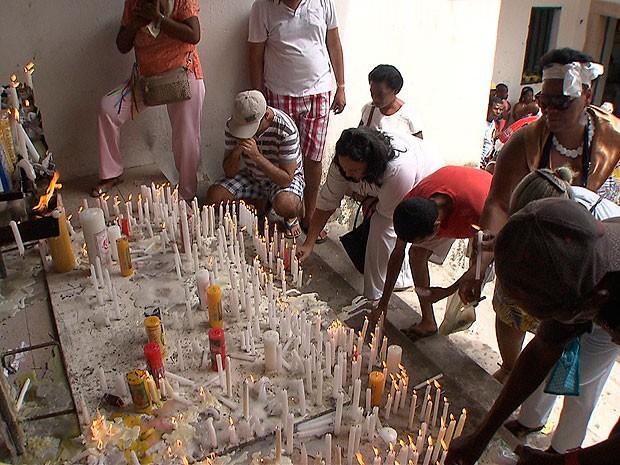 Dia de Santa Luzia em Salvador (Foto: Reprodução/TV Bahia)