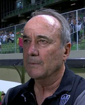 Levir Culpi comandou o Atlético-MG na partida contra o Santos (Foto: Reprodução/Sportv)