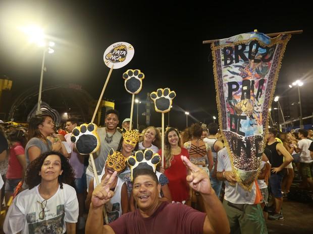 Bloco Pata de Onça participa do desfile de fanfarras, no circuito Sérgio Bezerra (Foto: Mauro Zaniboni /Ag Haack)