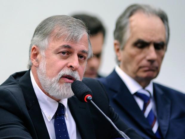 Paulo Roberto Costa presta depoimento na CPI da Petrobras, em Brasília (Foto: Lúcio Bernardo Jr/Câmara dos Deputados)