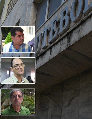 Candidatos à Federação Paraibana de Futebol (Foto: Montagem / GloboEsporte.com/pb)