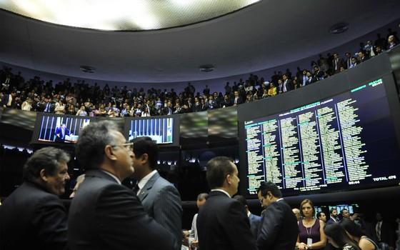 Durante a votação da PEC 443, as galerias da Câmara dos Deputados ficaram lotadas por servidores das carreiras beneficiadas (Foto: Luis Macedo / Câmara dos Deputados)
