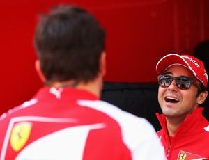 Felipe Massa e Fernando Alonso GP da Espanha (Foto: Getty Images)