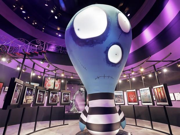 Ala da Felicidade da exposição 'O mundo de Tim Burton' no MIS, em SP (Foto: Letícia Godoy/MIS/Divulgação)