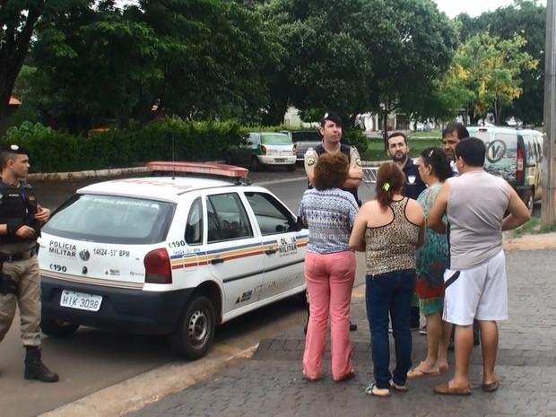 Denúncia Funerária Polícia Araguari (Foto: Richard Ribeiro/Arquivo Pessoal)