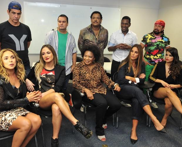 Cantores reunidos para a comemoração dos 30 anos da axé music (Foto: Reinaldo Marques / Gshow)