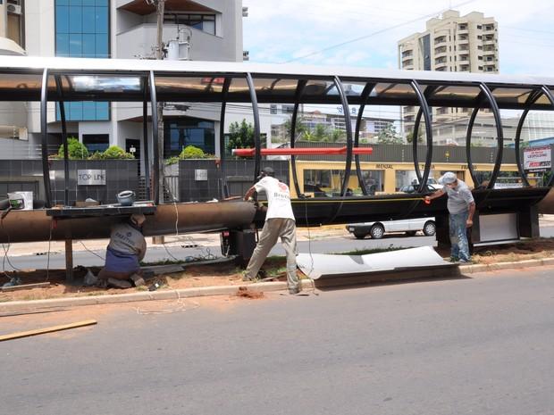 BRT Uberaba Bus Rapid Traffic Obras (Foto: Sebastião Santos/Prefeitura de Uberaba)