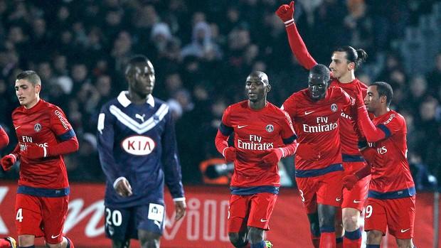 Ibrahimovic comemora gol do PSG contra o Bordeaux (Foto: Reuters)