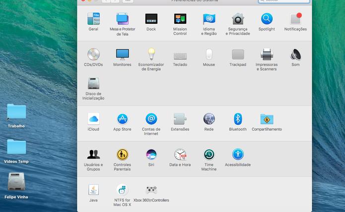 Escolha o iCloud nas preferências do Mac (Foto: Reprodução/Felipe Vinha)
