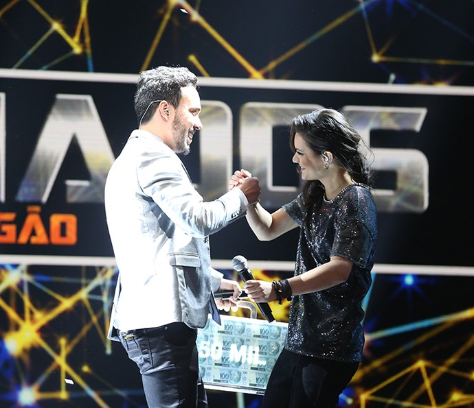 O vencedor disputou a rodada final com a participante Cibelle Hespanhol (Foto: Carol Caminha/Gshow)