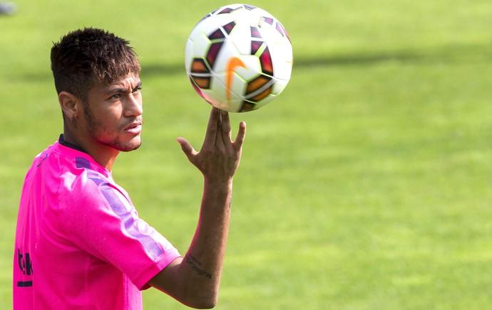 Neymar Treino Barcelona (Foto: Agência EFE)