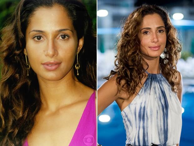 Antes e depois de Camila Pitanga (Foto: CEDOC / Estevam Avellar / TV Globo)