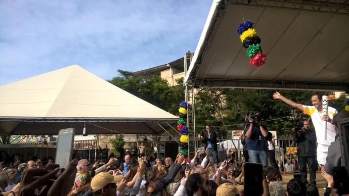 Marcelo Barreto, SporTV, tour da tocha, Minas Gerais, Bicas (Foto: Roberta Oliveira)