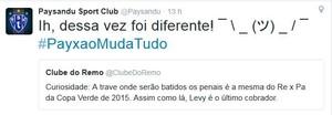 Twitter oficial do Paysandu (Foto: Reprodução/Twitter do Paysandu)