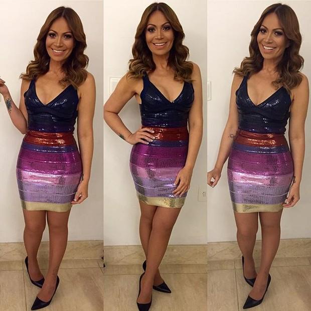 Solange Almeida em bastidores de show em Capina Grande, na Paraíba (Foto: Instagram/ Reprodução)