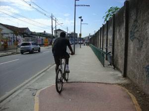 Ciclovia da Estrada de Urucânia termina próximo a estação de trem de Campo Grande. (Foto: Mariucha Machado/G1)